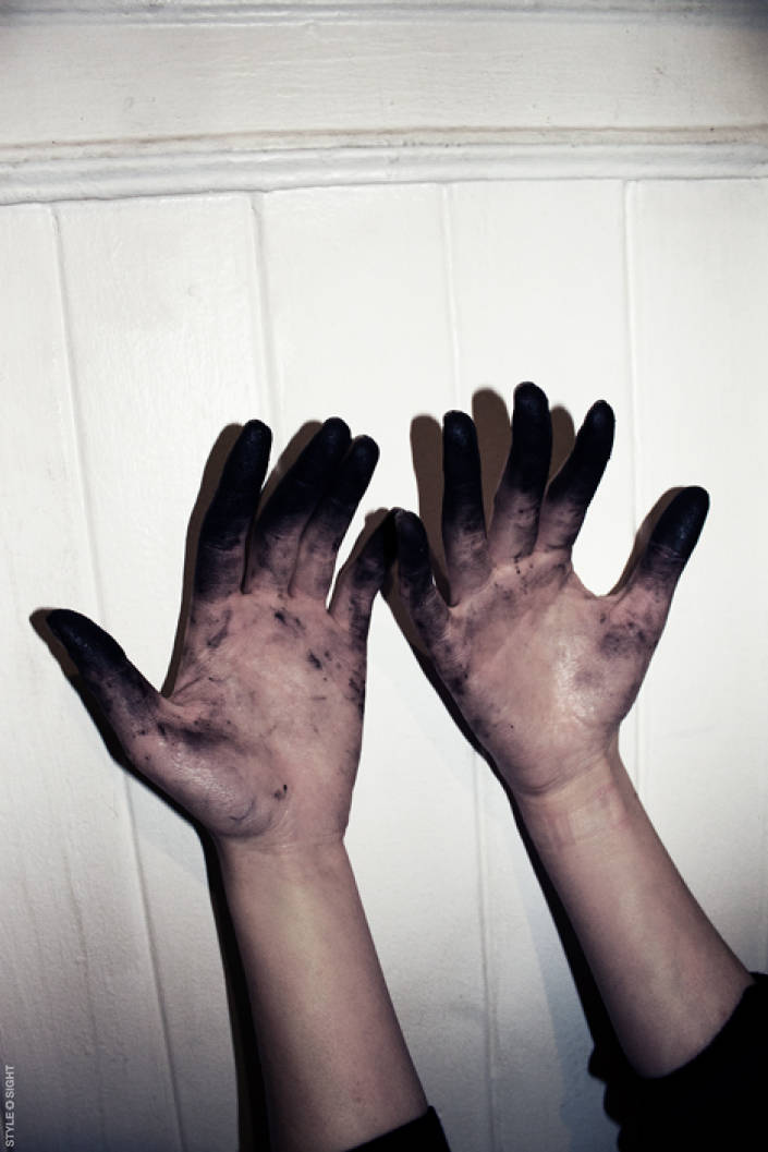 Paint Covered Hands Aesthetic